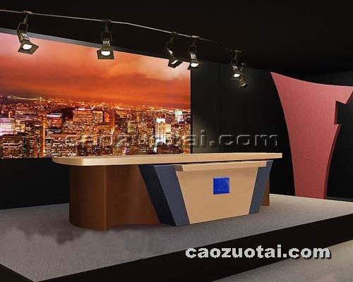 操作台网提供生产供应演播室演播桌厂家