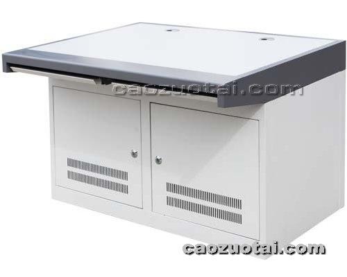 操作台网提供生产二联铝型材琴台式操作台厂家
