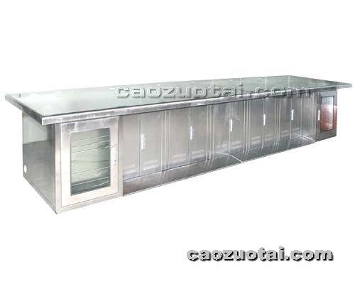操作台网提供生产多联豪华不绣钢操作台厂家