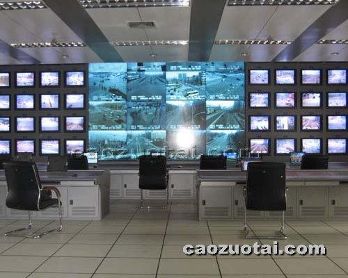 操作台网提供生产豪华台式电视墙厂家
